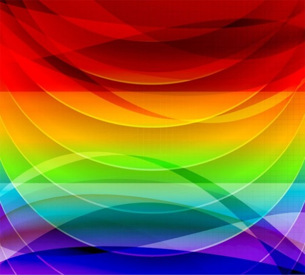 Vivid Color Curves Abstract Vector Background