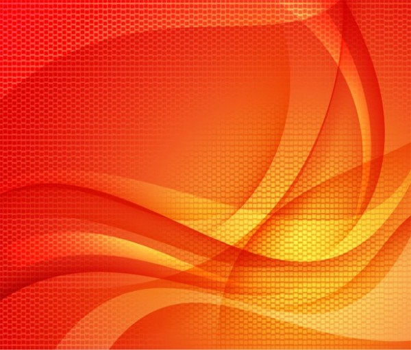 Orange Wave Honeycomb Abstract Background