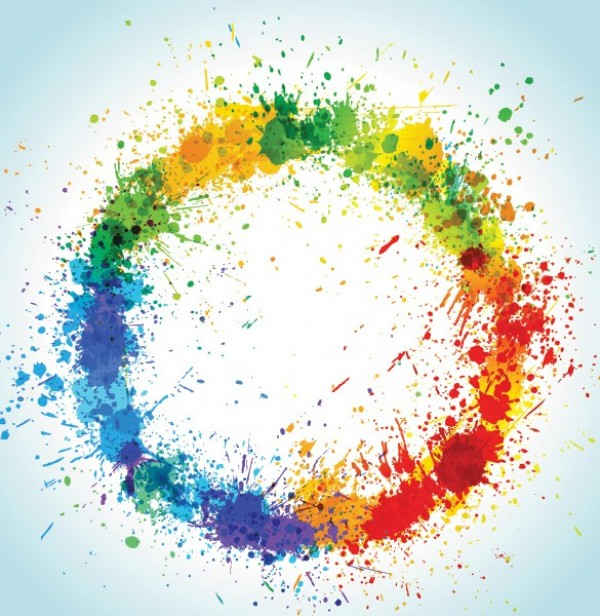 Circular Paint Splash Vector Background - WeLoveSoLo