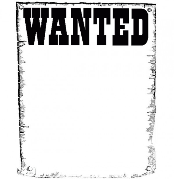 Printable Design  Wanted Poster Paper Background  Poster