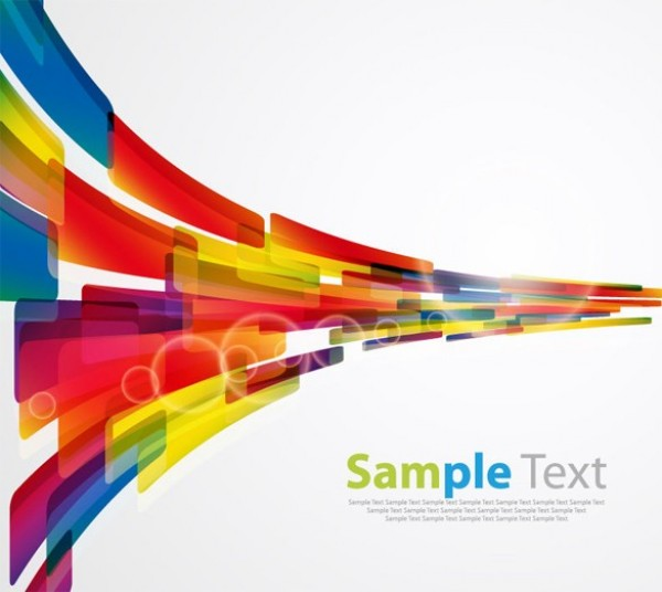 Geometric 3D Abstract Vector Background