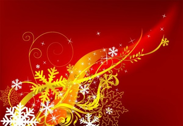 Red Abstract Christmas Vector Background Welovesolo
