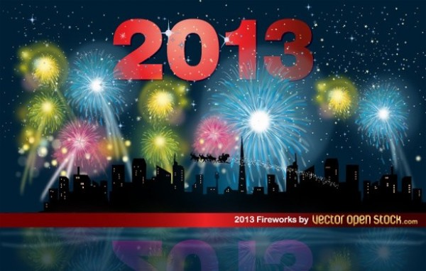 web vector unique ui elements stylish quality original night new years new interface illustrator high quality hi-res HD graphic fresh free download free Fireworks elements download detailed design creative cityscape city skyline city celebration background AI 2013
