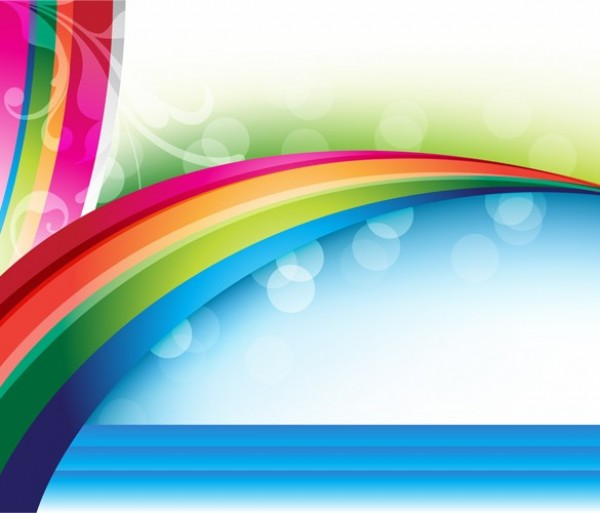 Vivid Rainbow Abstract Vector Background