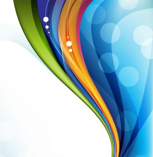 Large Color Wave Abstract Design Background