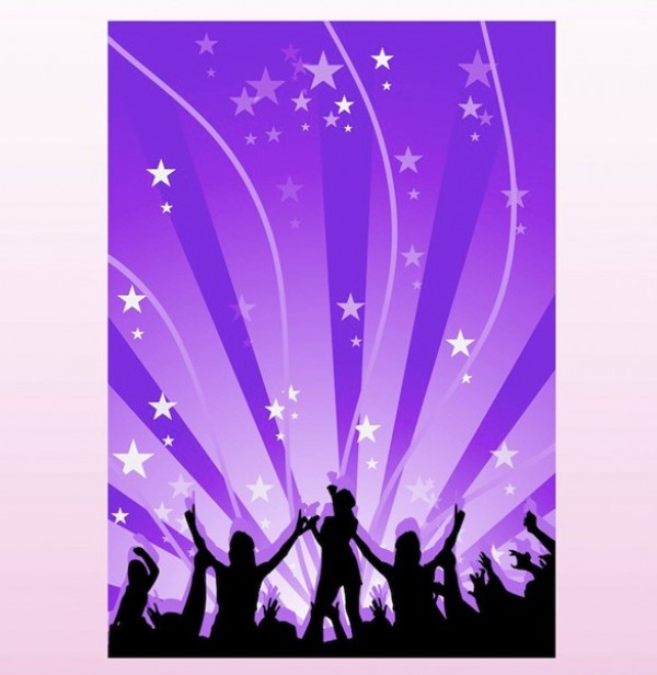 Dancing Music Silhouette Vector Poster Background Welovesolo