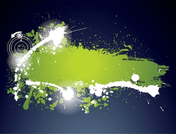 Green Grunge Paint Splatter Label Template - WeLoveSoLo