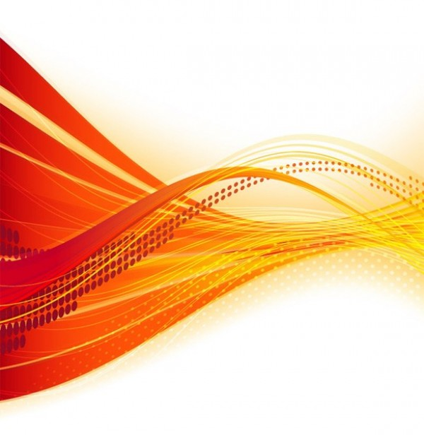 Orange Fire Flow Abstract Vector Background