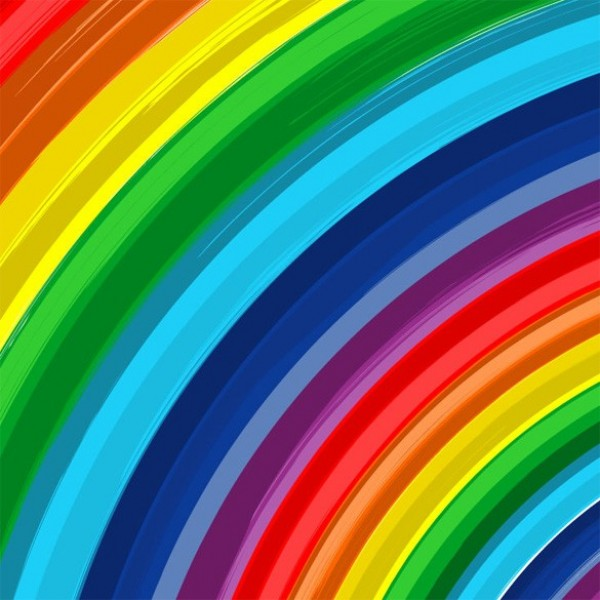 Bold Color Rainbow Abstract Vector Background Welovesolo