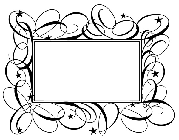 Beautiful Flourish And Star Frame Psd Welovesolo