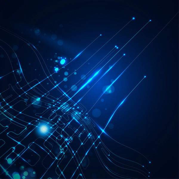 Deep Blue Digital Lines Abstract Background
