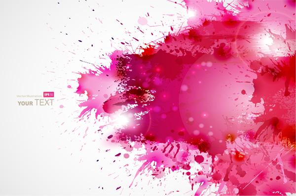 Pink Vector Splash Abstract Background Welovesolo
