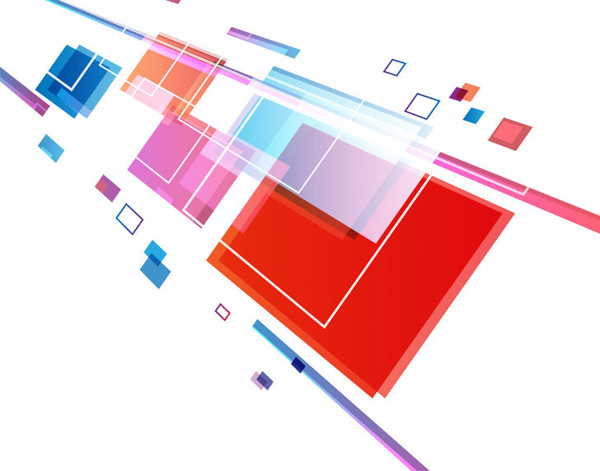 Vector Square Background Hd Vector Three Dimensional: Abstract 3D Squares And Lines Background
