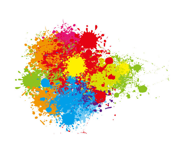 Color Splatter Vector Colorful Paint Splatter Vector