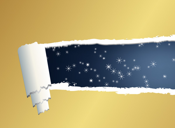 yellow vector torn paper stars starry sky ripped paper ripped paper free download free curled background