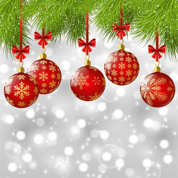 christmas balls background - photo #19