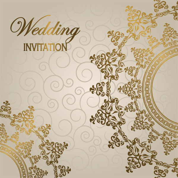 Elegant Glossy Wedding Invitation Background