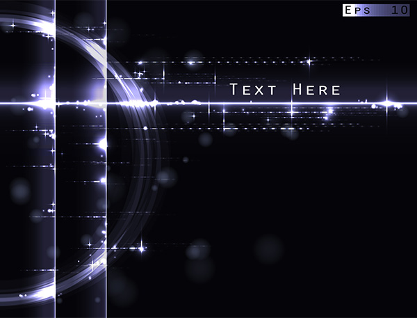 Abstract Technology Background With Light Effect: Light Glare Effects Abstract Black Background