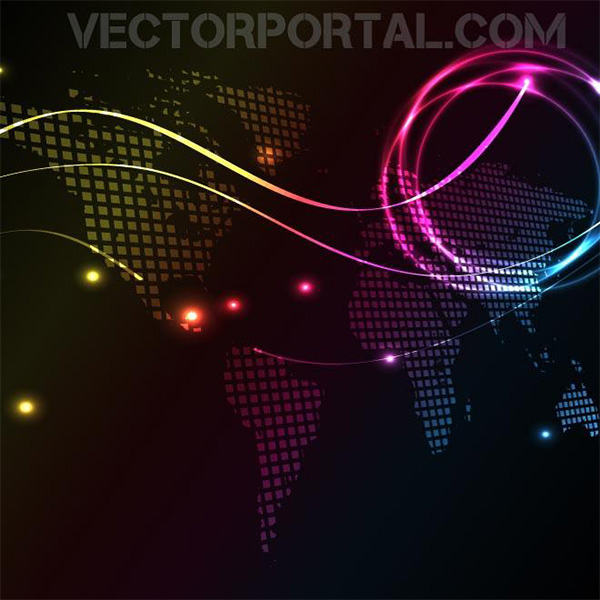 Electric glow world map dark background welovesolo electric glow world map dark background gumiabroncs Images