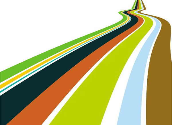 vector stripes road perspective lines hiway highway free download free colorful background 3d