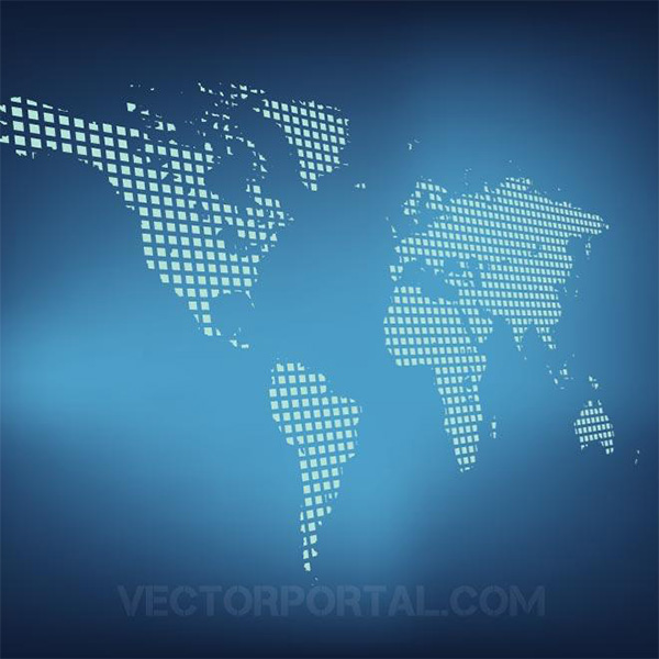 world map world vector grid free download free earth continents blue background