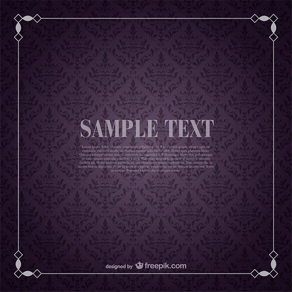 wallpaper vintage vector retro purple pattern free download free frame floral background