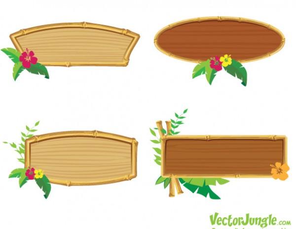 e84e00b36db 4 Bamboo Wooden Frame Vectors - WeLoveSoLo