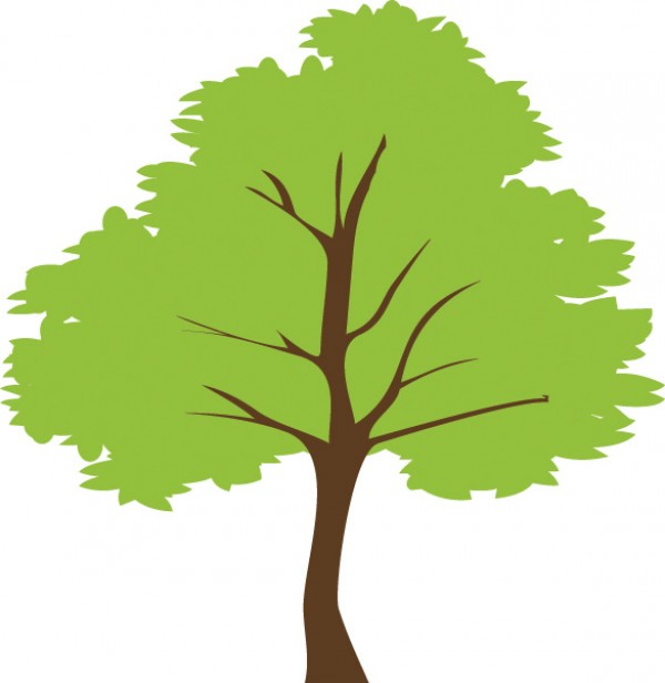 Simple Green Tree Vector Illustration Welovesolo