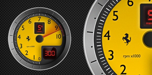 f430 tachometer vector graphic welovesolo. Black Bedroom Furniture Sets. Home Design Ideas