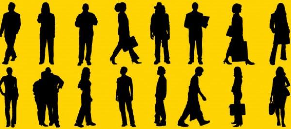 women woman vector sillhouetes shadow Photoshop people pack men man illustrator Human free vector free downloads EPS civilization AI