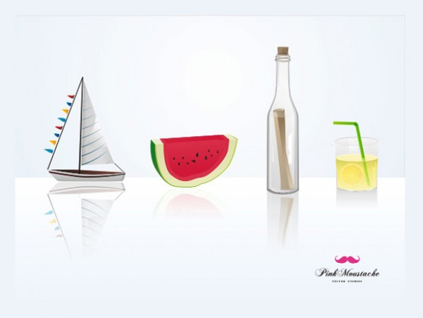 watermelon Vectors vector graphic vector unique slice sailboat quality Photoshop pack original modern message in bottle lemonade illustrator illustration high quality glass fresh free vectors free download free download creative AI