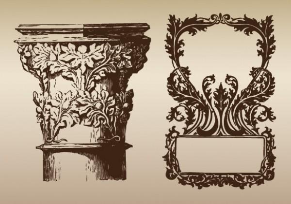 Victorian Pillar & Frame Ornamental Vectors - WeLoveSoLo