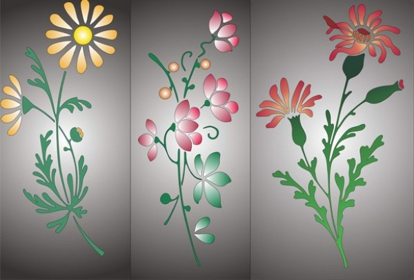 web vector unique ui elements stylish stemmed flower quality plant original new illustrator high quality graphic fresh free download free flowers floral download design delicate creative bouquet background