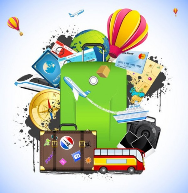 web vector vacation unique ui elements travel suitcases stylish quality plane original new jet interface illustrator high quality hi-res HD graphic globe fresh free download free elements download detailed design cruise ship cruise credit cards creative compass airplanes air balloons