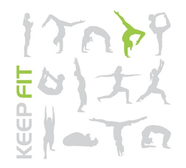 yoga web vector unique ui elements stylish stretches silhouette quality positions original new keep fit interface illustrator high quality hi-res HD graphic fresh free download free exercise elements download detailed design creative