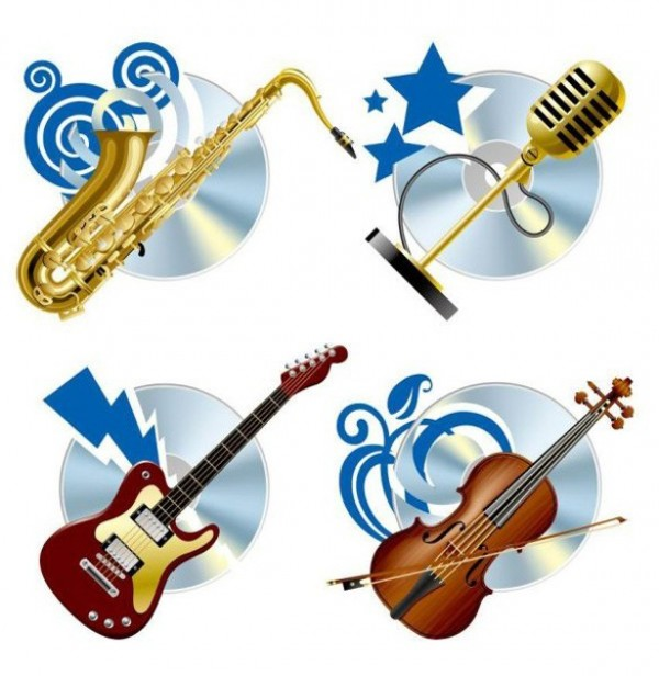 violin vector unique stylish saxophone quality original musical instruments music microphone instruments illustrator high quality guitar graphic free download free download creative CD background
