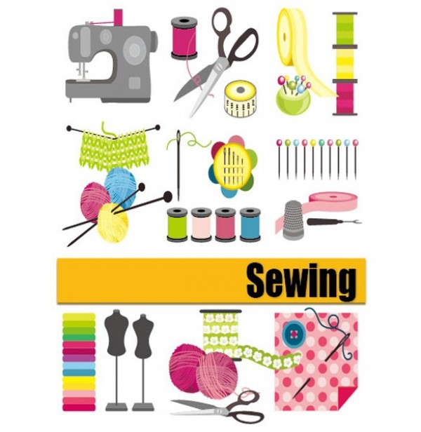 Sewing related vector materials notions welovesolo for Sewing materials
