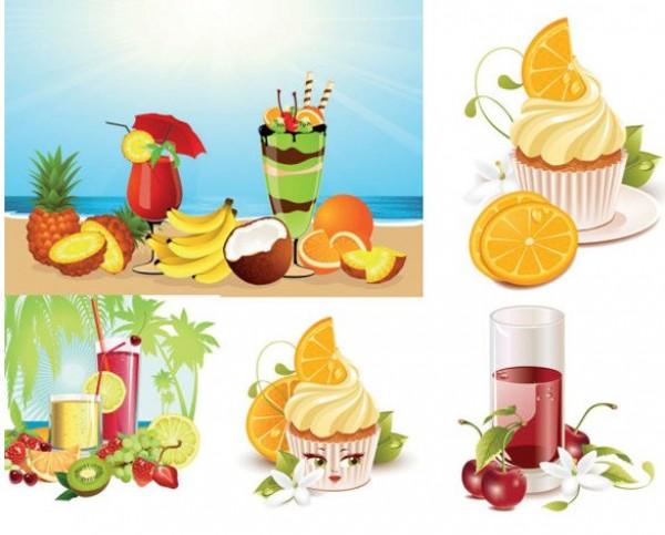 pineapple palms orange lemon kiwi ice cream grapes flowers cold drinks coconut trees coconut beverage beach bananas