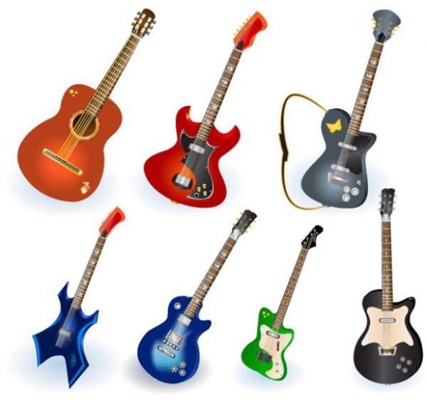 web vector unique ui elements stylish quality original new musical instrument interface illustrator icon high quality hi-res HD guitar graphic fresh free download free elements electric guitar download detailed design creative acoustic guitar