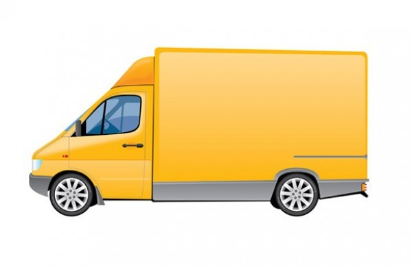 Yellow Delivery Truck Vector Graphic - WeLoveSoLo