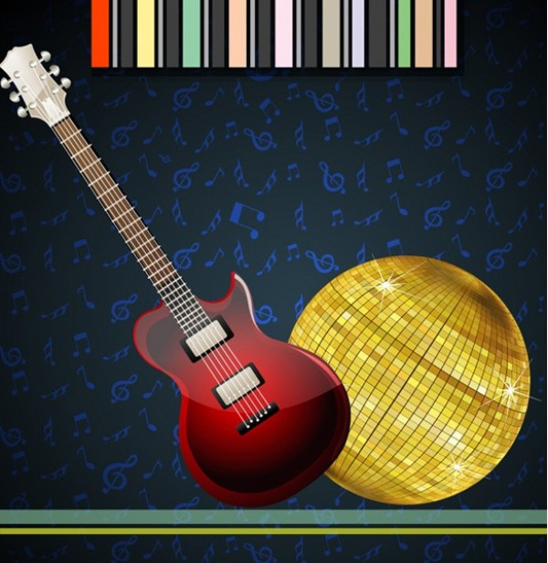 web vector unique ui elements stylish quality original new musical notes music interface illustrator high quality hi-res HD guitar graphic gold fresh free download free elements electric download disco ball detailed design creative blue background