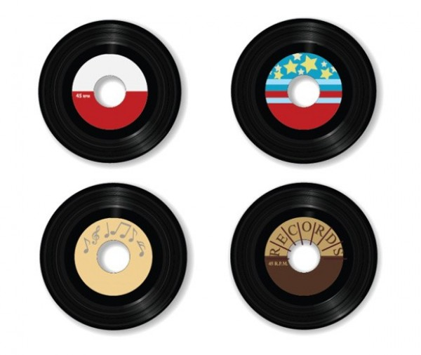 web vinyl vintage vector unique ui elements stylish small set retro records quality original new music labels interface illustrator high quality hi-res HD graphic fresh free download free EPS elements download detailed design creative 45 rpm record