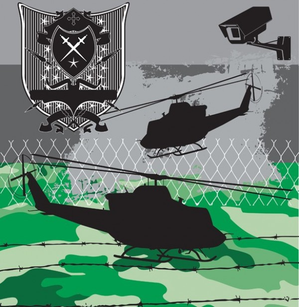web war vector unique ui elements stylish quality original new link fence interface illustrator high quality hi-res helicopter HD graphic fresh free download free EPS emblem elements download detailed design creative camouflage camo armed forces AI