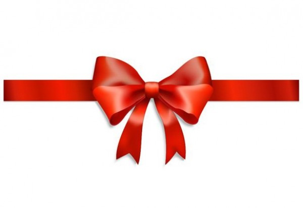 Pretty red ribbon and bow set for gift wrapping – vector EPS.