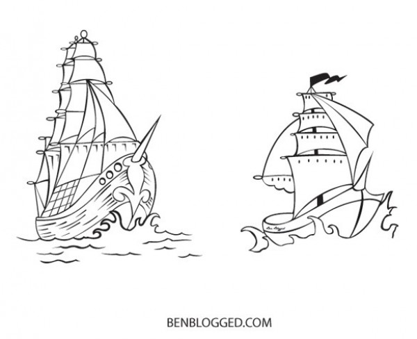 web vintage vector unique ui elements tattoo stylish sketched ship set schooner sailing ship quality pirate ship pirate original new interface Illustrator 8 illustrator high quality hi-res HD hand drawn graphic fresh free download free EPS elements download detailed design CS2 creative boat