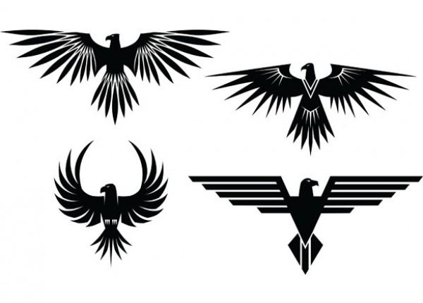 4 Eagle Symbol Tattoo Style Vector Graphics Welovesolo