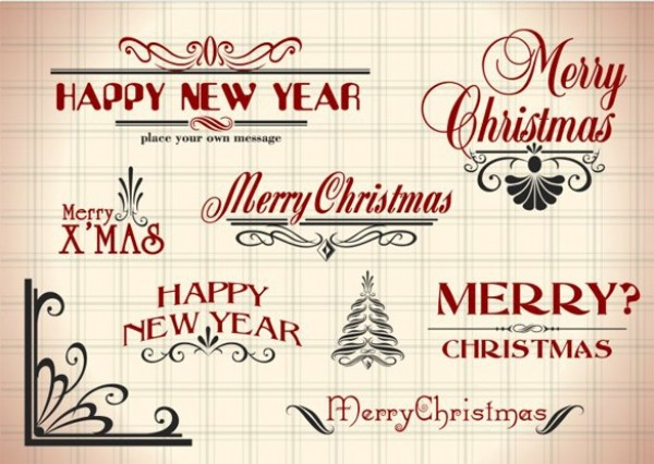 web vintage vector unique ui elements text stylish script quality original new years new merry christmas interface illustrator high quality hi-res HD graphic fresh free download free font elements download detailed design creative