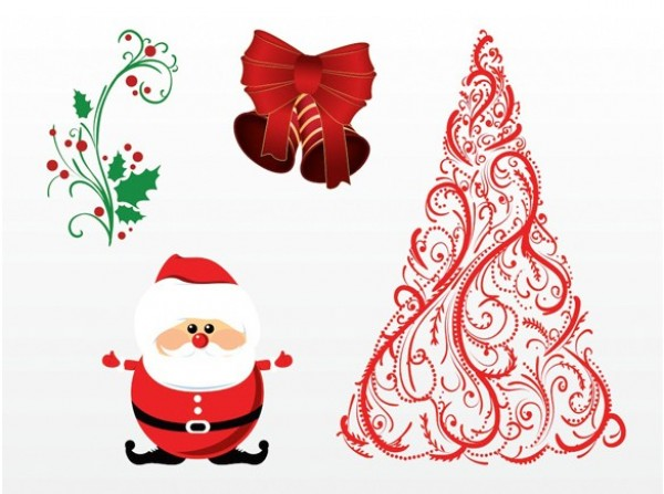 xmas tree winter web vector unique ui elements stylish santa claus santa quality ornaments original new mistletoe interface illustrator holiday high quality hi-res HD graphic fresh free download free festive elements download detailed design December creative christmas tree Christmas Decorations bow bell