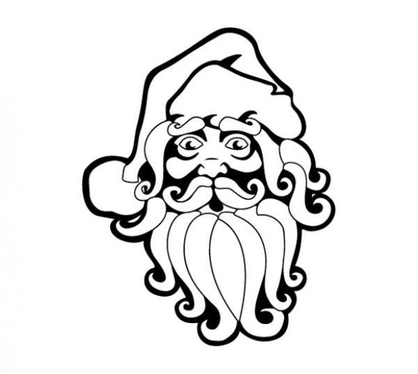 Santa Claus Vector Art Drawing Welovesolo
