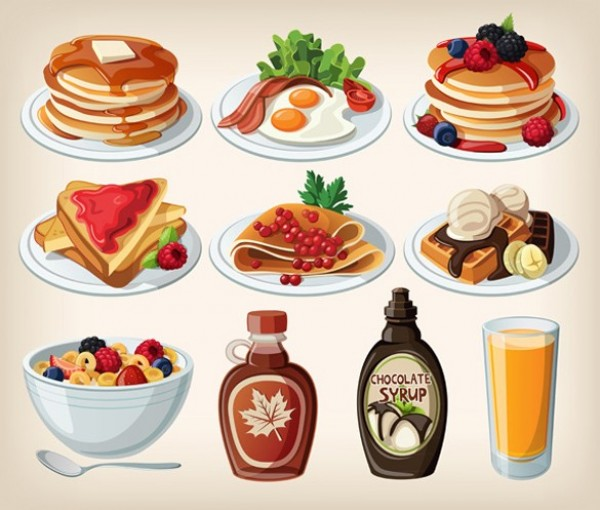 web waffles vector unique ui elements syrup stylish set quality plate pancakes original new juice interface illustrator high quality hi-res HD graphic fresh free download free EPS elements download detailed design crepes creative cereal cartoon breakfast breakfast bacon and eggs
